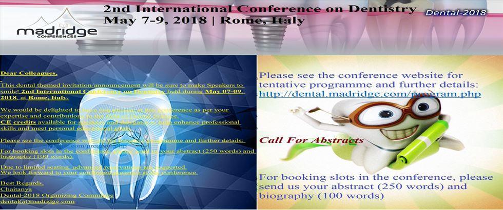 کنفرانس دندانپزشکی رم 2018